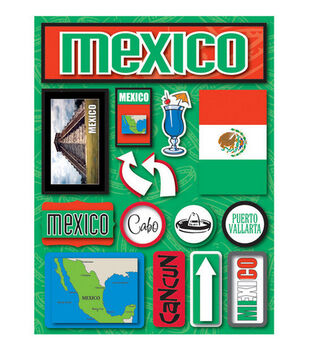 Reminisce Dimensional Stickers-Mexico
