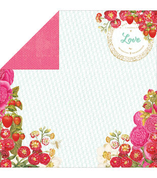 "Strawberry Fields Double-Sided Cardstock 12""X12""-Strawberry Patch"