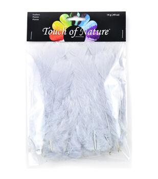 Flat Turkey Feathers 14 Grams-Silver Grey