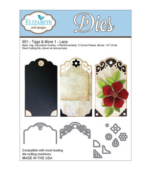 Elizabeth Craft Designs Tags & More Tag 1 Dies