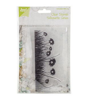 Joy! Crafts Grass & Flower Background Clear Stamps