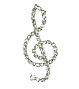 Laliberi Rhinestone Pin - Crystal Music
