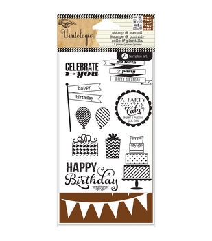 Hampton Art Stamp & Stencil Set-Birthday