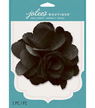 Jolee's Boutique - Black Burlap Large Flower