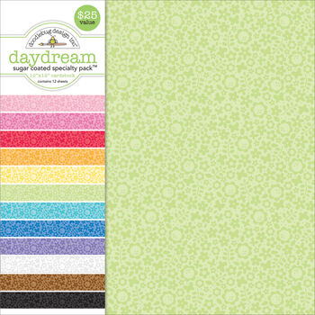Doodlebug Specialty Sugar Coated Daydream Cardstock 12''x12''
