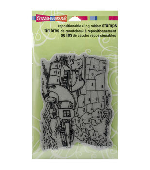 Stampendous Trailer Travel Cling Rubber Stamp