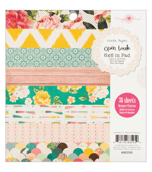 Crate Paper Maggie Holmes Open Book Paper Pad 6''x6''