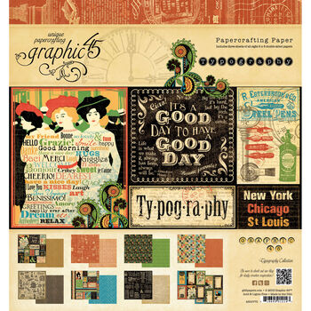 Graphic 45 Typography Double-Sided Paper Pad