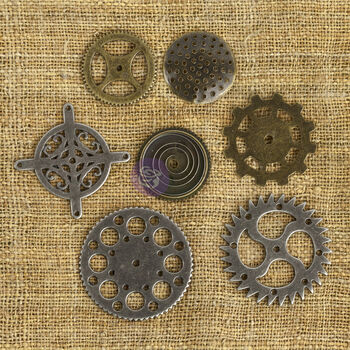 Prima Marketing Mechanicals Metal Embellishments Gears