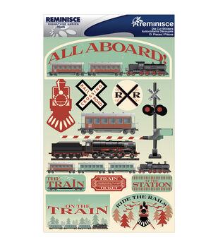 Reminisce Signature Dimensional Stickers Train