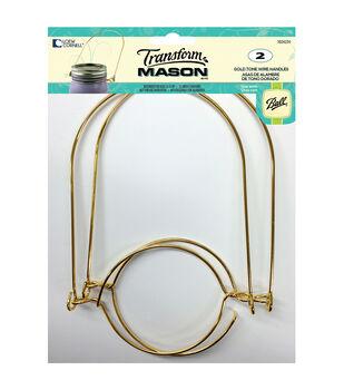 TransformMason Jar Wire Handle 2/Pkg-Gold