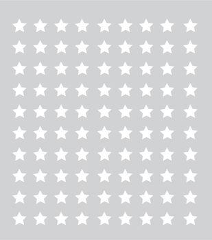 """Plastic Stencil 8""""X8""""-Stars"""