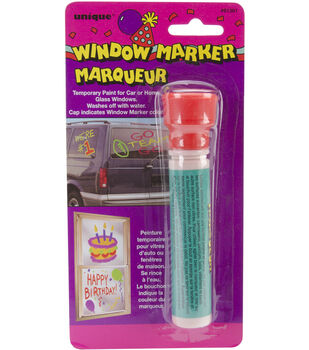 Window Marker Carded-White