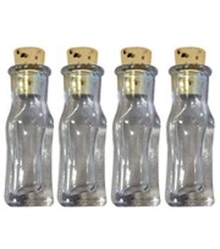 Art-C Small Rectangular Glass Bottles