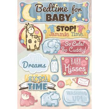 Karen Foster Baby Cardstock Stickers Bedtime For Baby