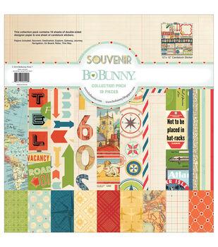 """Bo-Bunny Collection Pack 12""""X12""""-Souvenir"""