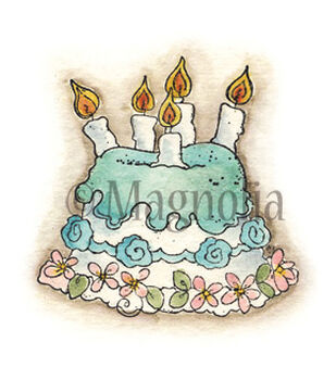 Magnolia Special Moments Cling Rubber Stamp Little Rose Cake