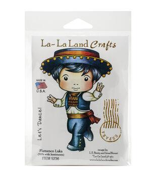 La-La Land Crafts Flamenco Luka Cling Mount Rubber Stamps