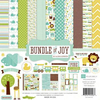 Echo Park Paper Company Bundle Of Joy Boy Collection Kit Baby Boy