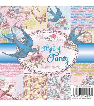 Wild Rose Studio Flight Of Fancy Paper 6''x6''