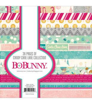 "Bo-Bunny Paper Pad 6""X6"" 36/Pkg-Candy Cane Lane"