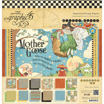 Graphic 45 Mother Goose Double-Sided Paper Pad