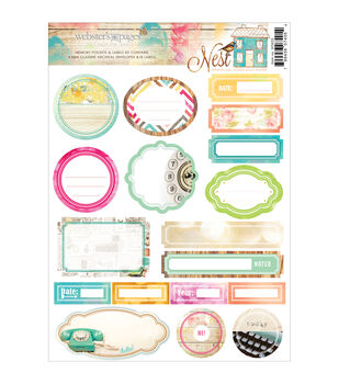 Webster's Pages Nest Memory Pockets & Labels