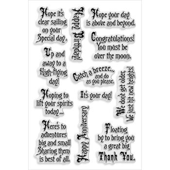 Stampendous Perfectly Clear Stamps Soaring Elements