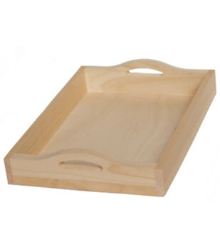 Walnut Hollow Unfinished Wood Serving Tray Rectangle
