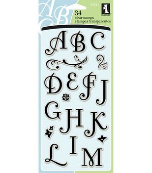 Inkadinkado Clear Stamps-Coffee House Alphabet