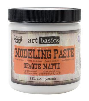 Opaque Matte-Art Modelng Paste 8 Oz