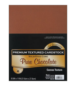 "Cardstock 8.5""X11"" 40/Pkg-Chocolate-Textured"