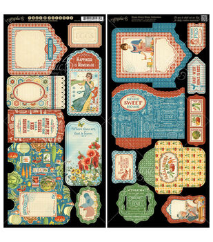 Graphic 45 Home Sweet Home Tags & Pockets Cardstock Die-Cuts