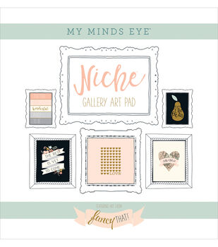 My Mind's Eye Niche Fancy That Foiled Frameables Gallery Art Paper Pad