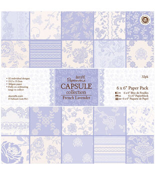 Papermania French Lavender Paper Pack 6''x6''