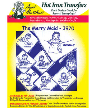 Aunt Martha's Iron-On Transfers-Juvenile/Holiday/Religious 24 Pack