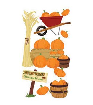 Jolee's Boutique Le Grande Dimensional Sticker-Pumpkin Pickin'
