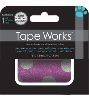 Oink Polka Dot Glitter Accent Tape