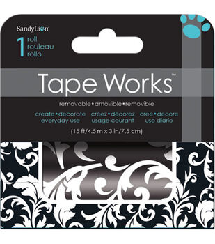 Black White Pattern Accent Tape