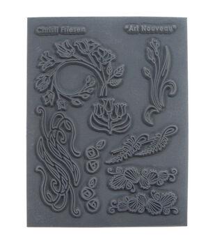 Great Create Christi Friesen Art Nouveau Texture Stamp