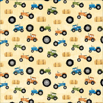 Karen Foster Farm Single Sided Paper Tractors, Tractors, Tractors