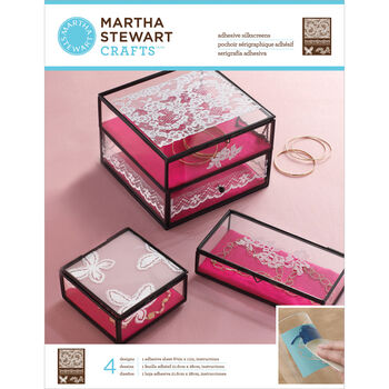"""Martha Stewart Crafts Glass Silkscreen 8.5""""X11"""" Antique Lace"""