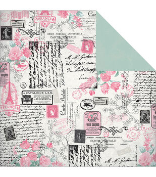 """Classique Pretty Double-Sided Cardstock 12""""X12""""-Collected"""