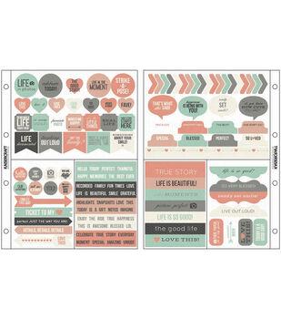 "Captured Moments Pocket Stickers 6.75""X8.5""-Harmony"