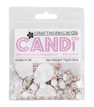 Craftwork Cards Candi Dot Happy Holidays Printed Embellishments