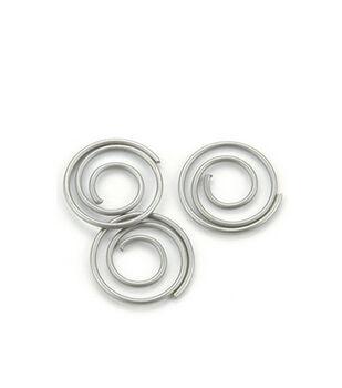 Mini Metal Spiral Clips-25PK/Pewter