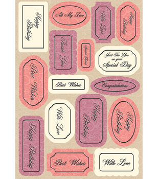 Kanban Mitford Die-Cut Punch-Out-Chantilly Sentiments Rose/Coral