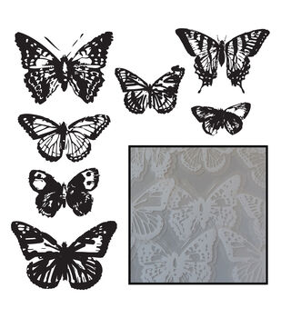 Transparencies Die-Cuts 14/Pkg-Vintage Butterflies - White