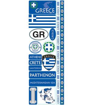 Reminisce Passports Die-Cut Stickers-Greece
