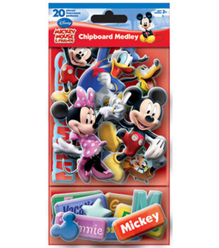 Mickey and Friends Chipboard Medley